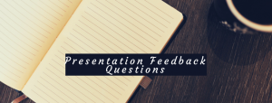 Dealing with questions in presentations